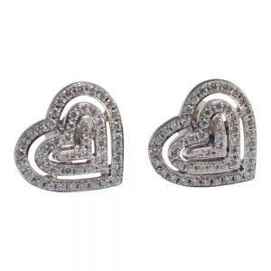 Theo Fennell Diamond Heart 18ct Gold Earrings