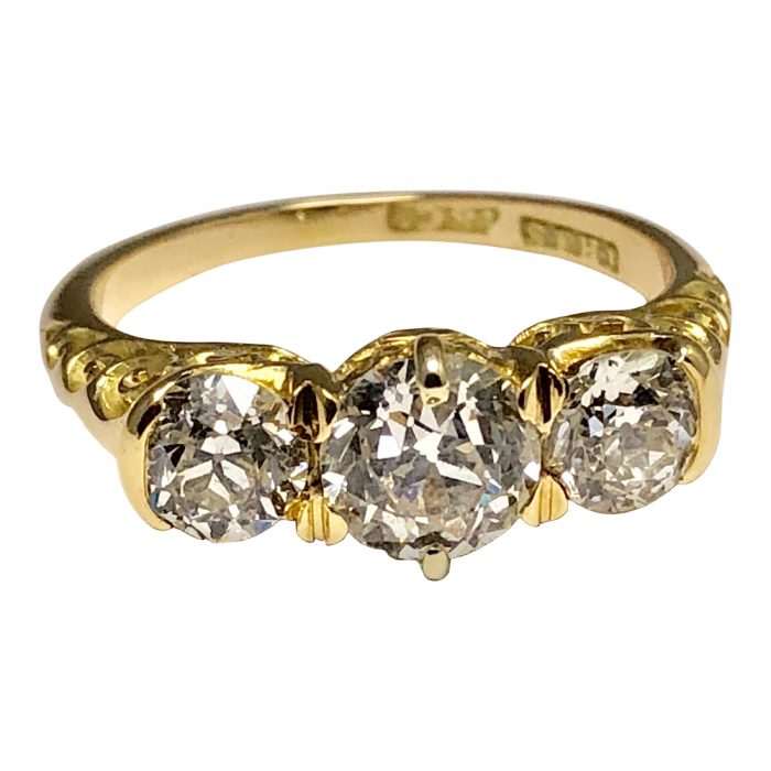 Victorian Diamond Trilogy Ring in 18ct Gold