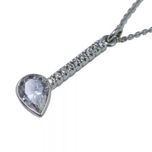 Pear Shaped Diamond Pendant 18ct Gold