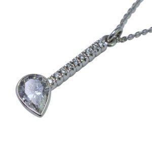 Pear Shaped Diamond Pendant 18ct Gold