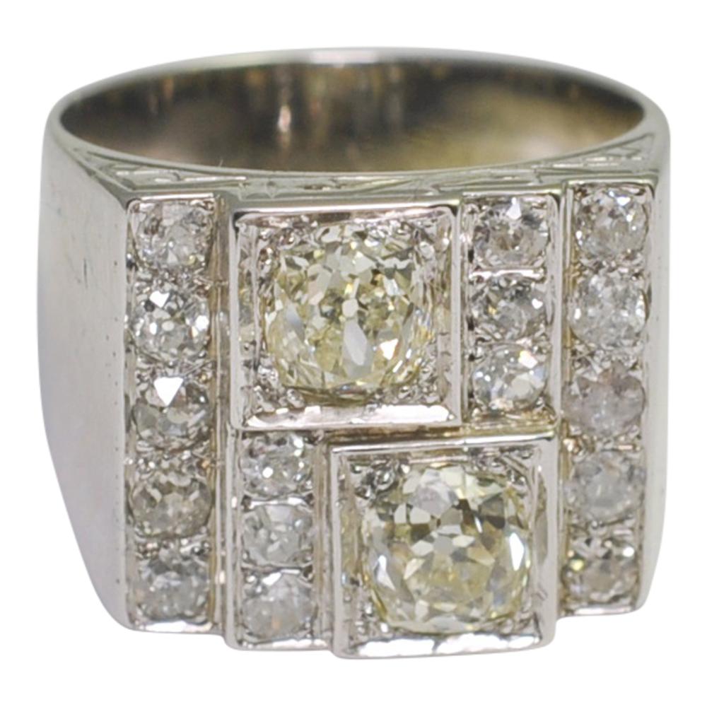 Art Deco Diamond Panel Ring