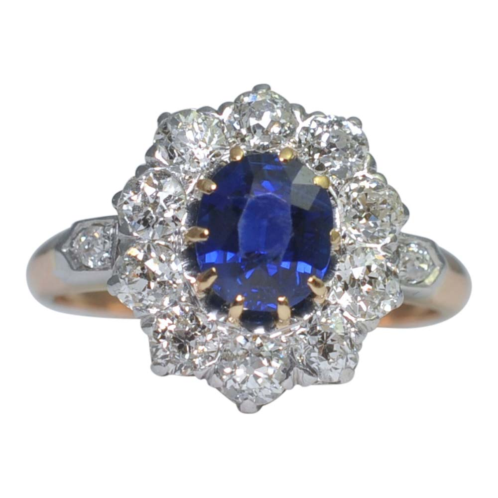 a shared gemstone ring pave split gold prong enr platinum sapphire engagement cable white halo reverse shank hidden in interior diamond round