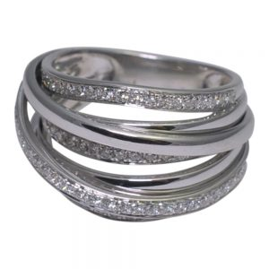 Diamond White Gold Multi Band Ring