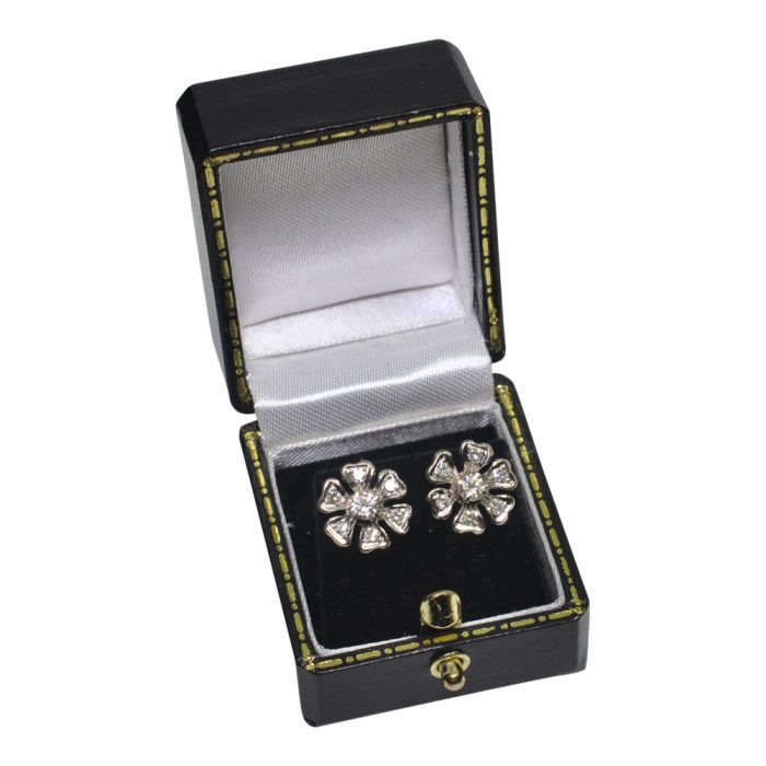 Diamond 18ct White Gold Flower Earrings