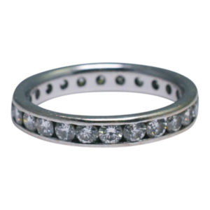 Diamond 18ct Gold Channel Set Eternity Ring