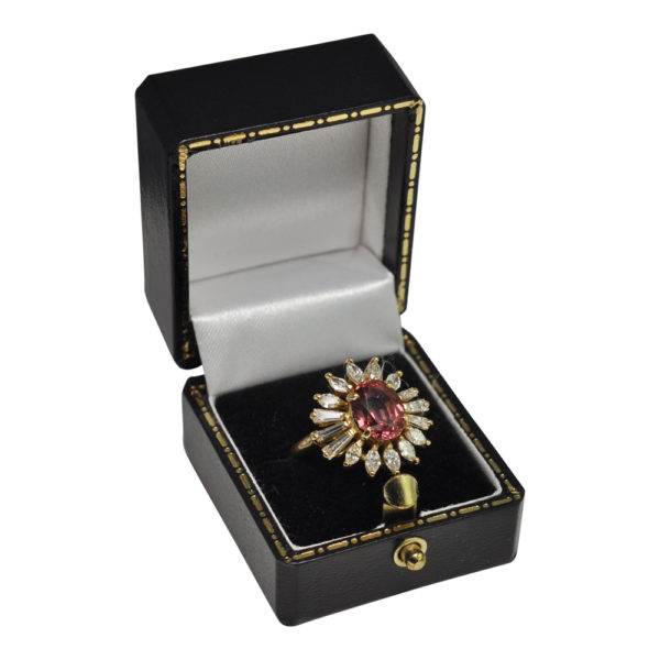 Malaya Garnet Diamond Gold Ring