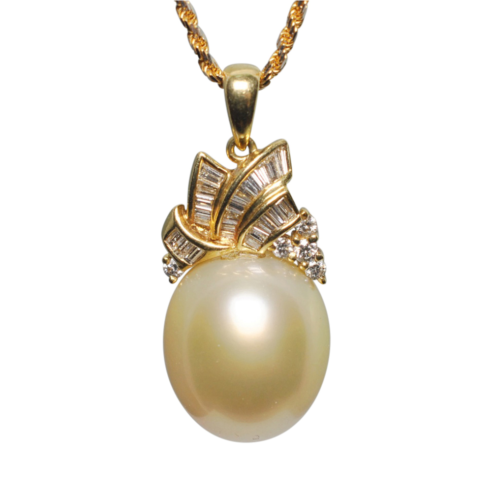 diamond gold pearl akoya ayoka pendant necklace tiffany co