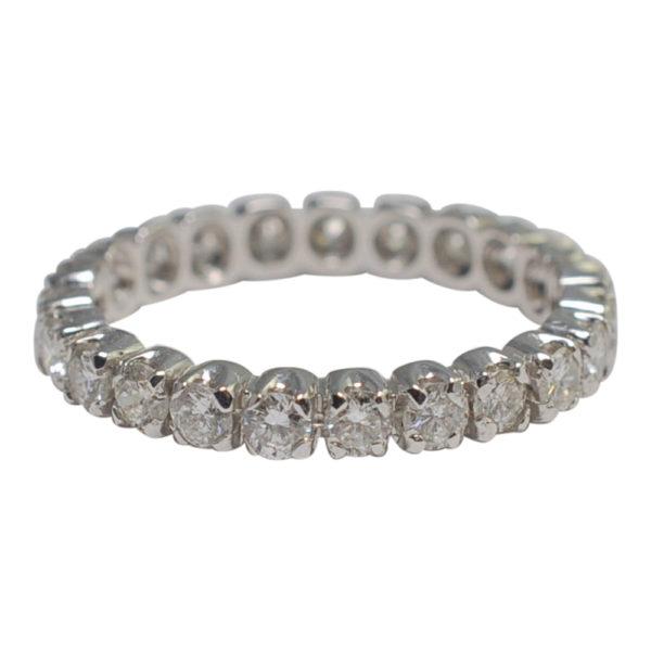 French Diamond 18ct White Gold Eternity Ring