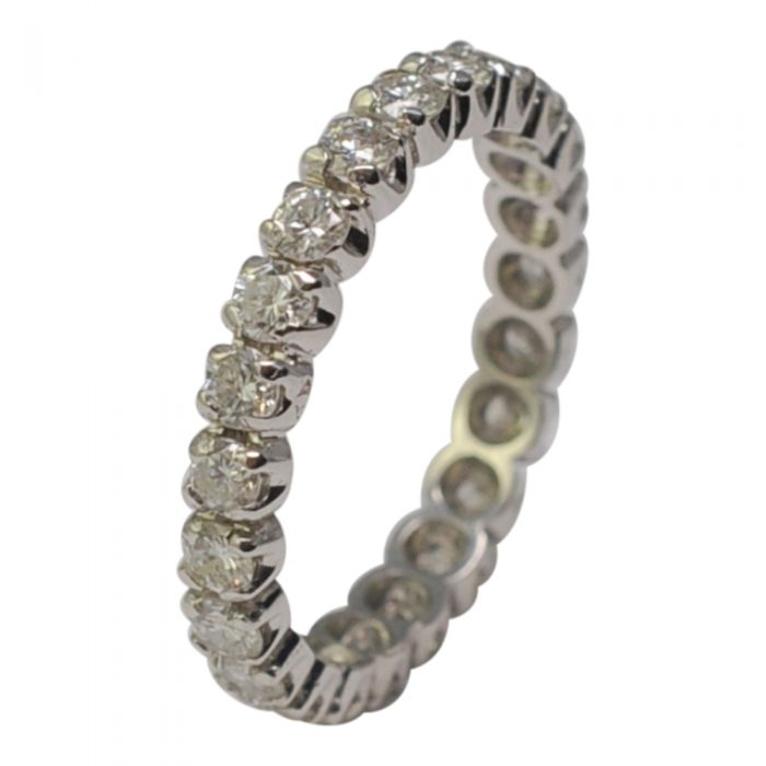 French Diamond 18ct White Gold Eternity Ring