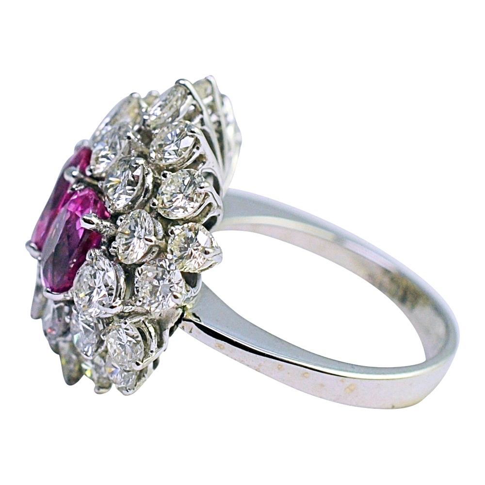 solitaire solitare gold padparadscha rings rare cushion in with rose product home engagement cut sapphire ring