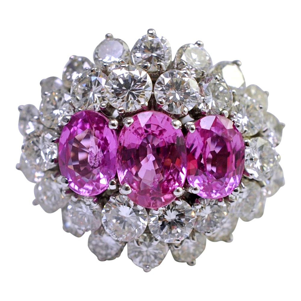 platdps platinum princess pink ct diamond masters engagement art p caravaggio ring product sapphire