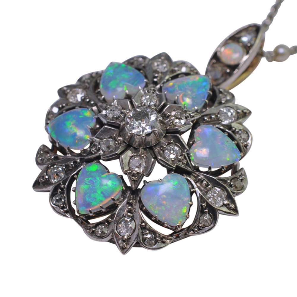 back and to stock blue silver opal lg marcasite stockley luke walter a d brooch william antique by