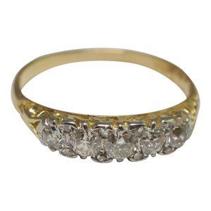Victorian Diamond Gold Engagement Ring