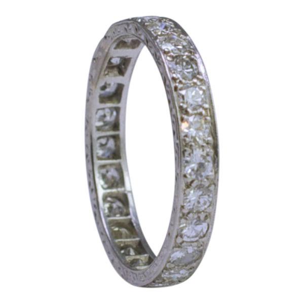 Art Deco Diamond Platinum Eternity Ring