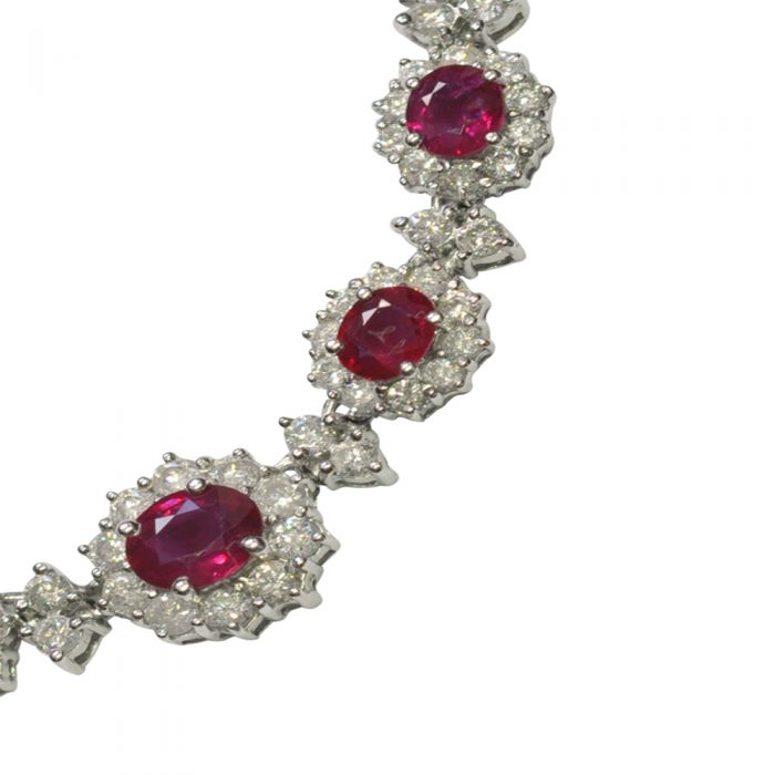 Ruby Diamond and 18ct Gold Necklace