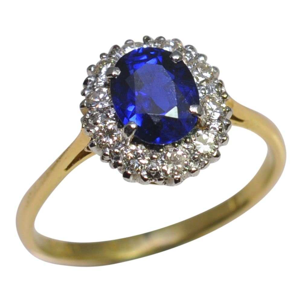 Burmese Sapphire Diamond Platinum Gold Ring Sold Plaza