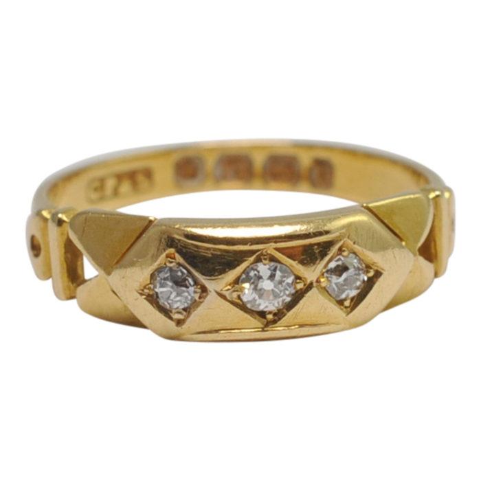 Antique Victorian Diamond 18ct Gold Ring