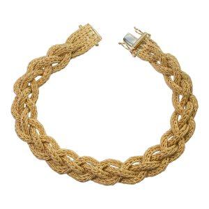 18ct Gold Woven Mesh Bracelet