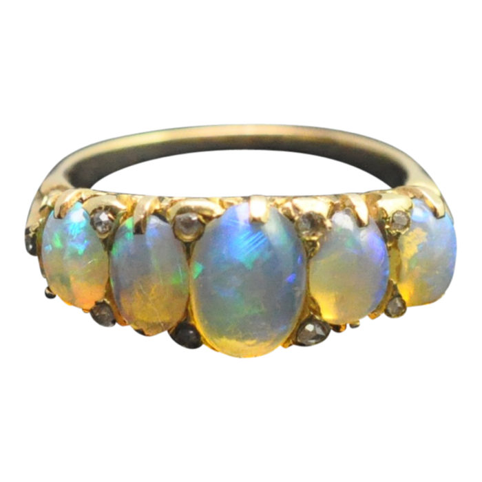 Antique Victorian Opal 18ct Gold Ring