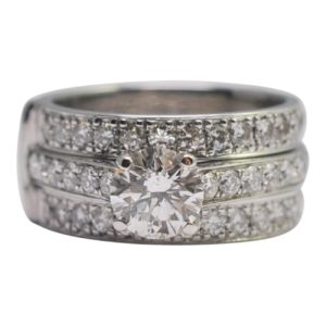 Diamond Two In One Engagement Wedding Gold Ring