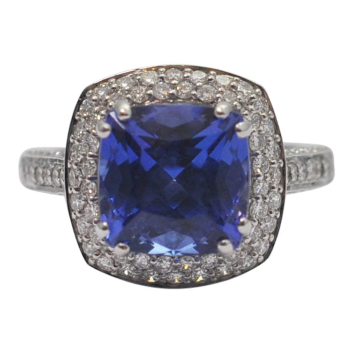 Tanzanite Diamond Gold Ring