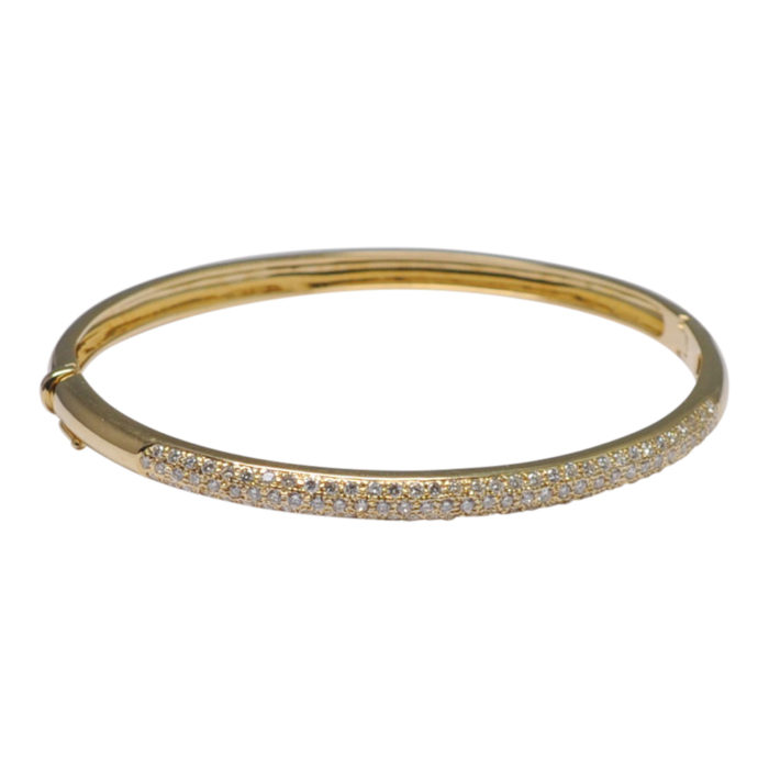 Diamond 18ct Gold Bangle