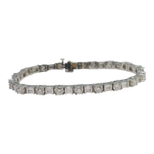 Diamond Platinum Line Bracelet