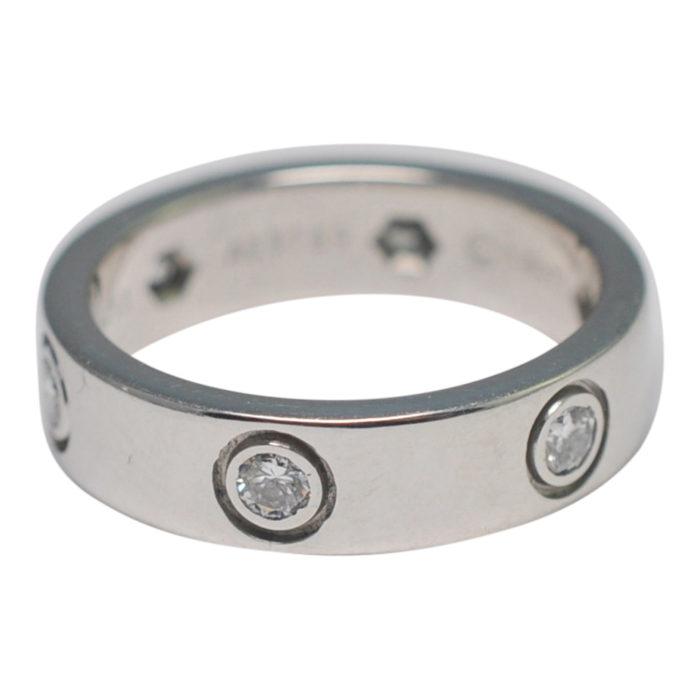 Cartier Diamond White Gold Love Ring