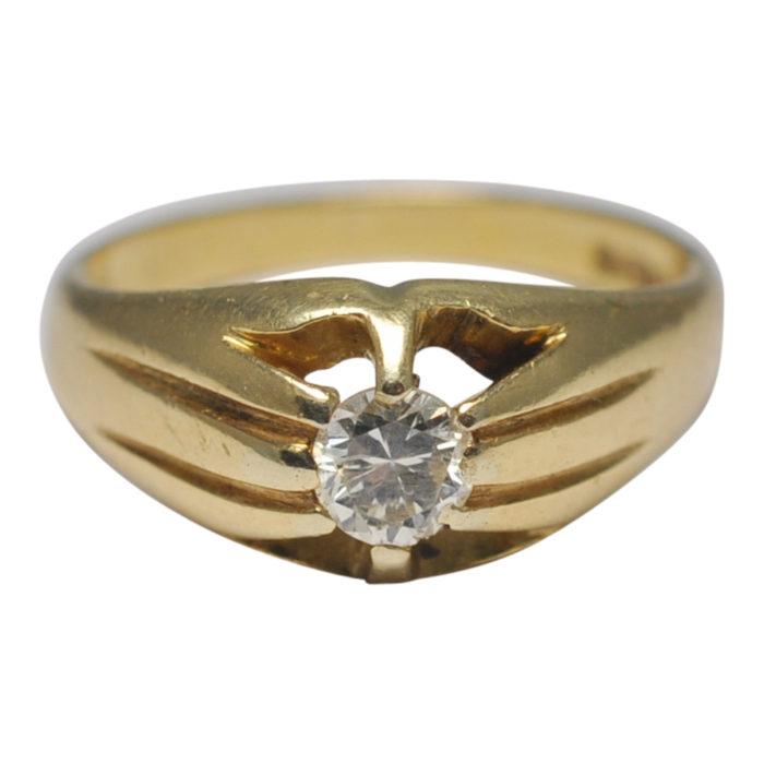 Gentleman's Single Stone Diamond Ring