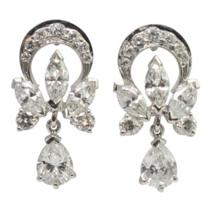 Garrard Diamond Platinum Earrings