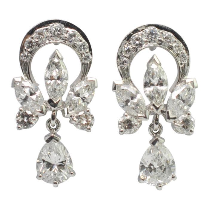 Garrard Diamond Platinum Earrings