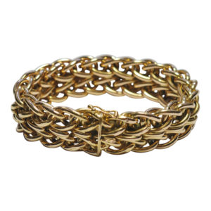 French 18ct Gold 1940s Bracelet
