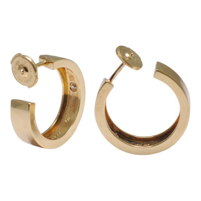 Cartier Gold Diamond Love Earrings