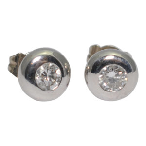 Diamond Gold Stud Earrings