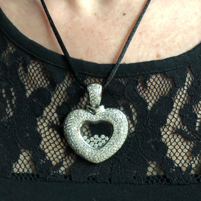 Diamond Gold Heart Pendant