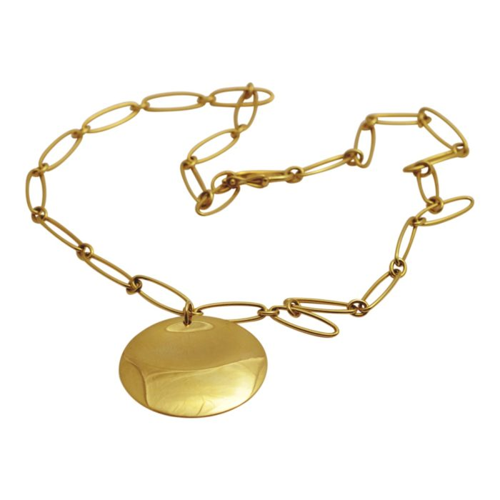 Elsa Peretti Tiffany & Co Gold Disc Necklace