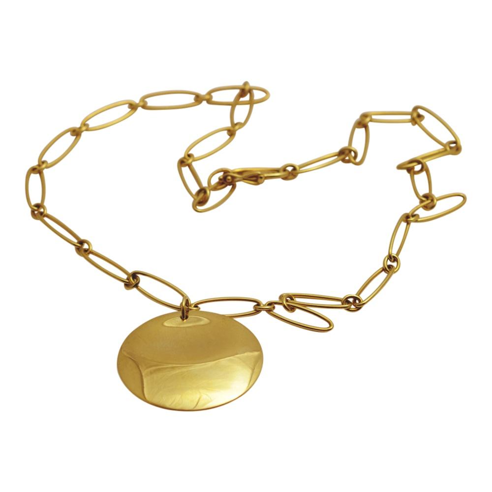 ceafb8e62 Elsa Peretti Tiffany & Co Gold Disc Necklace - Plaza Jewellery