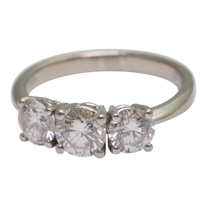 Diamond Trilogy Gold Ring
