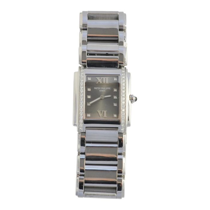 Patek Philippe Ladies Twenty 4 Steel Diamond Watch