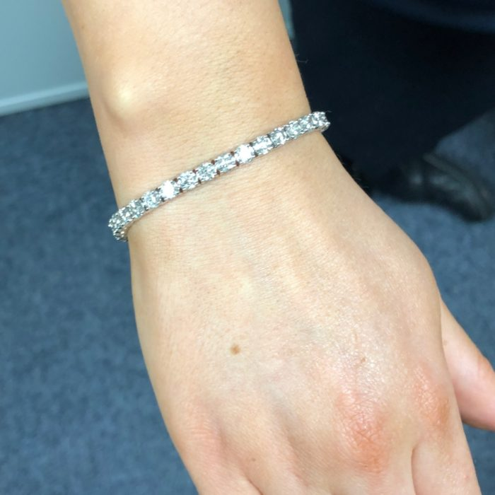 10.29ct Diamond Line Bracelet