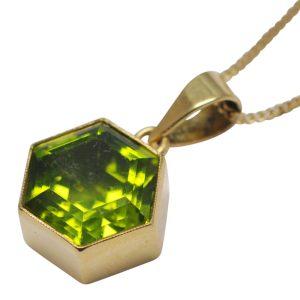 Peridot Gold Pendant