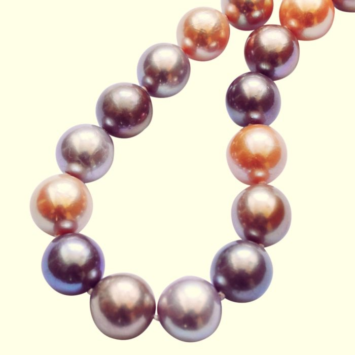 Large Multi-coloured Freshwater Pearl Necklace
