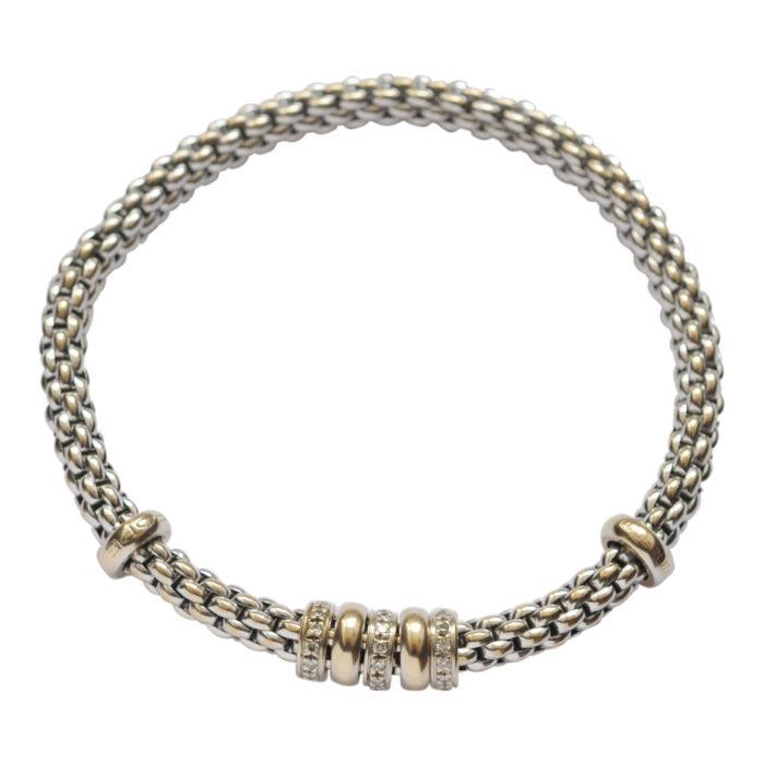 Fope Diamond Gold Flex-It Bracelet