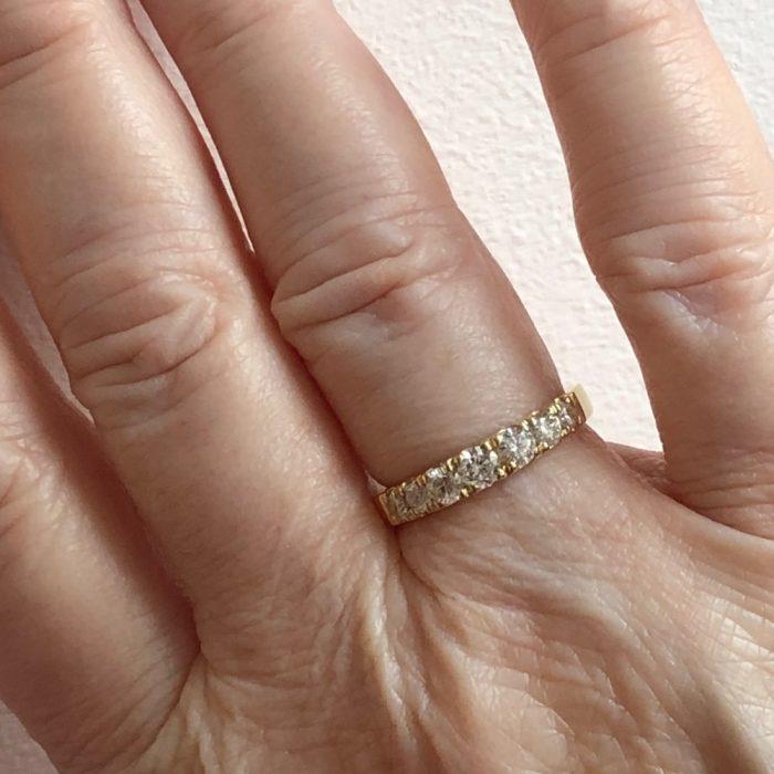 Diamond Half Eternity 18ct Gold Ring