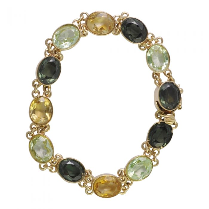 9ct Gold Multi Stone Bracelet