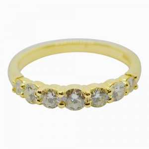 Diamond Half Eternity 18ct Gold Ring