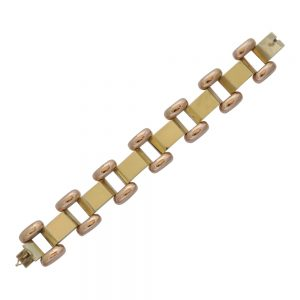Art Deco 14ct Gold Bracele
