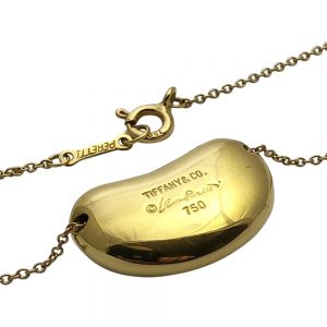 Tiffany & Co. Elsa Peretti Gold Bean Pendant