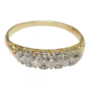 Victorian Diamond Gold Engagement Ring