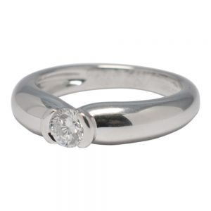 Cartier C De Cartier Solitaire Diamond Gold Ring